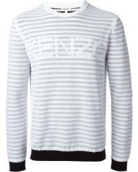 Kenzo Striped Logo Sweater - Lyst