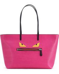 Fendi Buggie Leather Roll Bag - Lyst