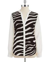 Ivanka Trump Zebra Print Blouse - Lyst