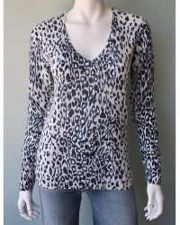Equipment Cecile Leopard Cashmere Sweater animal - Lyst