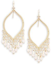 Lord & Taylor - Beaded Chandelier Earrings - Lyst