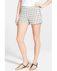 Kensie Geometric Jacquard Shorts - Lyst