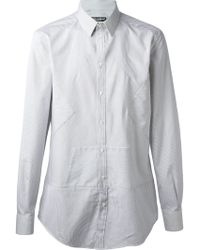 Dolce & Gabbana Arc Paneled Shirt - Lyst