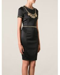 Moschino Logo Chain Dress - Lyst