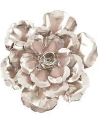 Alexander McQueen Flower Brooch - Pink