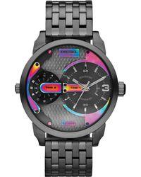 Diesel Mens Mini Daddy Gunmetaltone Stainless Steel Bracelet Watch 54x46mm - Lyst