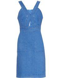 Stella McCartney Cut-Out Stretch-Denim Dress - Lyst