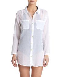 Heidi Klein Oversized Cotton Shirt - Lyst