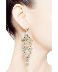 Shawn Ames - One Of A Kind Eloise Earrings with Step Cut Moss Agate and Green Tourmaline - Lyst