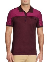 Versace Short-sleeve Colorblock Polo - Lyst