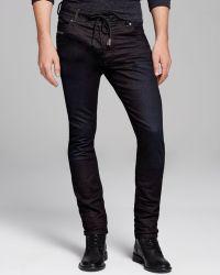Diesel Jeans Krooley Jogg Slim Straight Fit in Black - Lyst