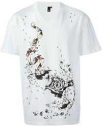 McQ by Alexander McQueen Ant and Camera Roll Print T-shirt - Lyst