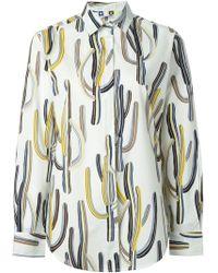 MSGM Cactus Print Cotton Button-Down Shirt - Lyst