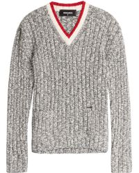 DSquared² | Knitted Cardigan With Alpaca And Virgin Wool | Lyst