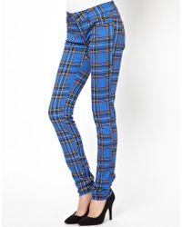 Tripp Nyc - Tartan Jeans - Lyst
