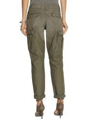 Rag & Bone Combat Mid-Rise Cotton-Canvas Cargo Trousers - Green
