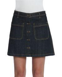 Vigoss - James Button-front A-line Denim Skirt - Lyst