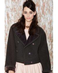 Nasty Gal Vintage Saint Laurent Leah Jacket black - Lyst