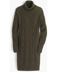 J.Crew | Cable Turtleneck Sweater-dress | Lyst