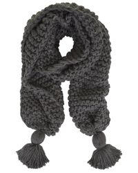 Topshop Chunky Knit Tassel Scarf - Lyst
