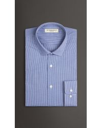 Burberry Modern Fit Cotton Gingham Shirt - Lyst