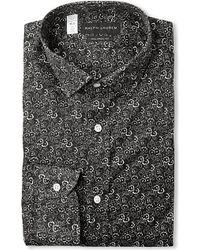 Ralph Lauren Black Label Floral-Print Cotton Shirt - For Men - Lyst