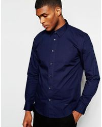 Wincer & Plant - Smart Shirt In Stretch Cotton Slim Fit - Lyst