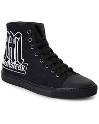 Viktor & Rolf Black Canvas High-Top Sneakers - Lyst