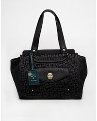 Nica - Large Tote Bag With Leopard Detail Faux Fur Panel - Lyst