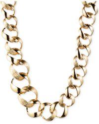 Jones New York Gold-Tone Linked Collar Necklace - Lyst