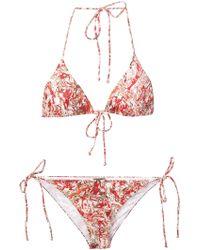 Bottega Veneta - Marble Print Bikini - Lyst