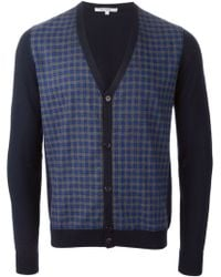 Carven Gingham Patterned Front Cardigan - Lyst