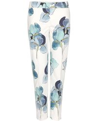 Tory Burch Brandy Printed Cotton Trousers - Lyst