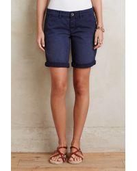 Pilcro - Hyphen Bermuda Shorts, Navy - Lyst