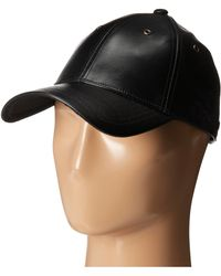 Marc By Marc Jacobs Leather Cap - Lyst