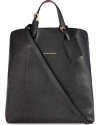 Burberry Caulfield Large Leather Tote 29 - Lyst