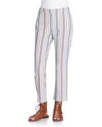 Free People Cropped Pants multicolor - Lyst