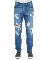 Hudson Sartor Ryder Ripped Jeans - Lyst