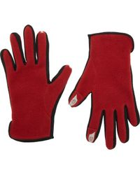 Barneys New York Fleece Tech Gloves - Lyst