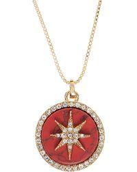 Anne Klein Star Pendant Necklace - Red