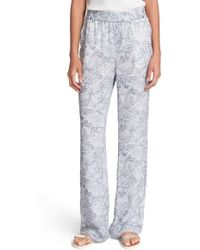 Joie - 'elandra' Paisley Print Silk Pants - Lyst