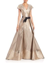 Carolina Herrera | Westeria Metallic Jacquard Gown | Lyst