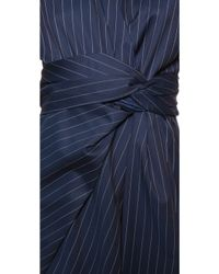 JW Anderson Wrap Drape Dress - Royal Blue