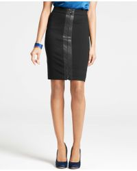 Ann Taylor Faux Leather Skirt - Lyst