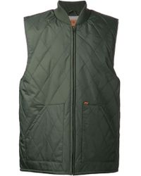 Obey Quilted Vest - Lyst