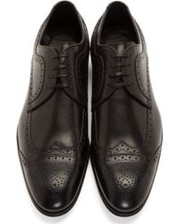 Dolce & Gabbana Black Leather Brogues - Lyst