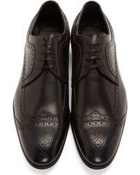 Dolce & Gabbana Black Leather Brogues - Lyst