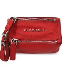 Givenchy Mini Wristlet Leather Coin Pouch - Lyst