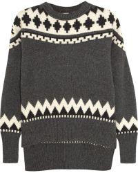 Adam Lippes Fair Isle Wool and Cashmereblend Sweater - Lyst