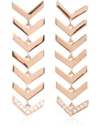 Karma El Khalil - Rose Gold And Diamond Snake Earrings - Lyst